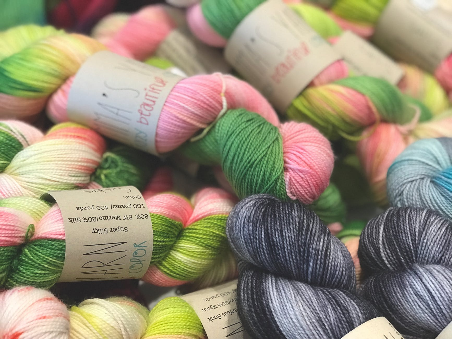 assorted colors of threads